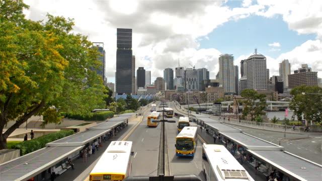 Brisbane cityscape Victoria Bridge video