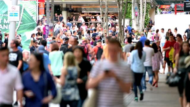 Brisbane Queen Street crowds video