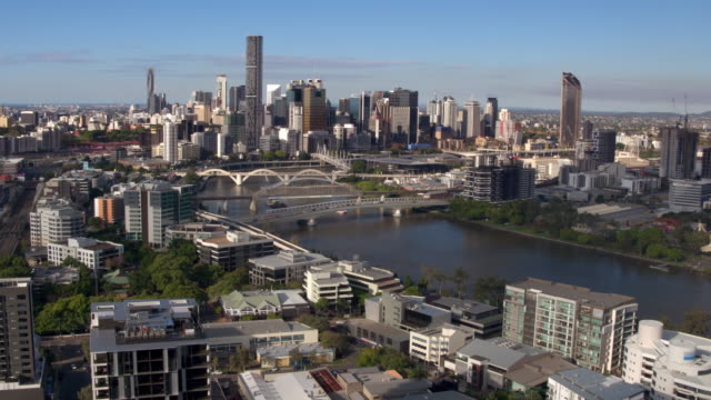 Brisbane River, Brisbane City, Queensland, Australia video