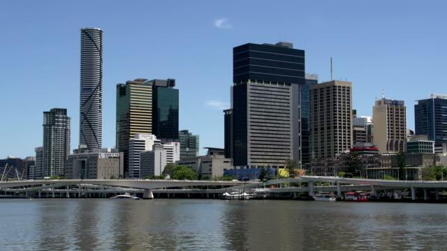 brisbane skyline on a summer day video
