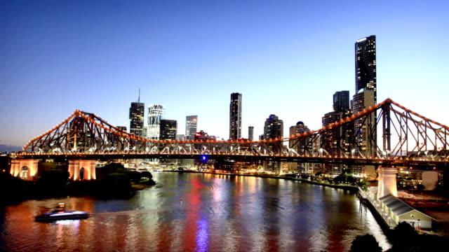 Brisbane Story Bridge and Skyline video