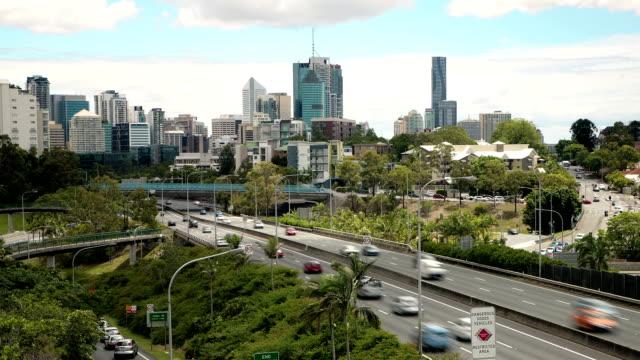 Brisbane traffic time lapse video