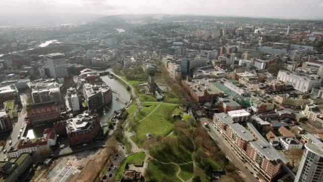 Bristol City Center Aerial View video