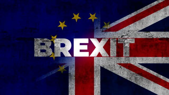 großbritannien und eu flagge gemischt. brexit-england referendum - europäische union stock-videos und b-roll-filmmaterial