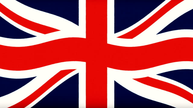Britain flag waving seamless loop new quality unique animated dynamic motion joyful colorful cool background video footage video
