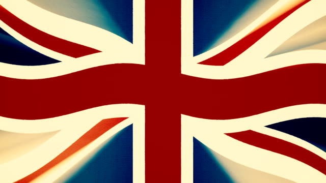 Britain flag waving seamless loop with sun light rays new quality unique animated dynamic motion joyful colorful cool background video footage video