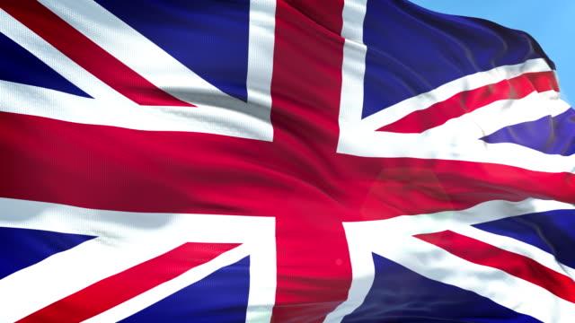 British Flag - Slow Motion - 4K Resolution