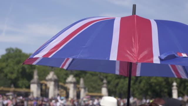 A British Flag umbrella sun shade