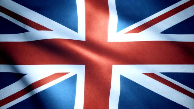 british flag - bandiera nazionale video stock e b–roll