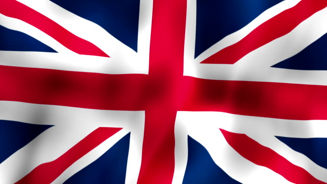 British flag waving in the wind video