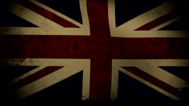 vídeos y material grabado en eventos de stock de británico bandera ondeando, viejo, grunge look pin fondo - inauguration