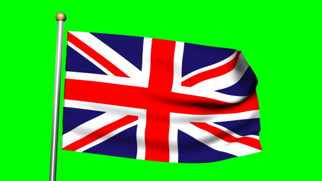 British flag with green screen video