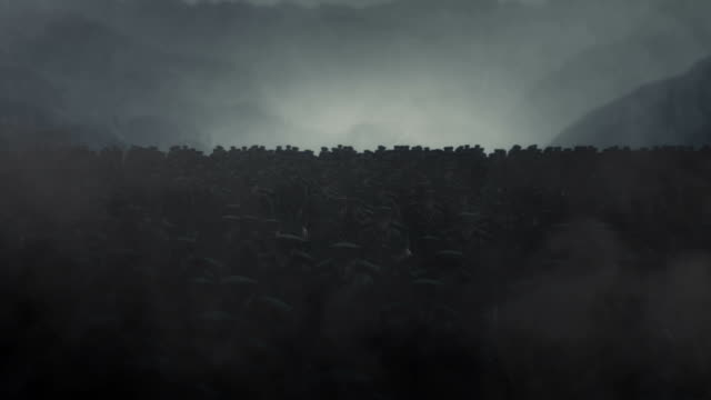 vidéos et rushes de ww1 soldats d'infanterie britannique pied marchant vers l'avant - première guerre mondiale