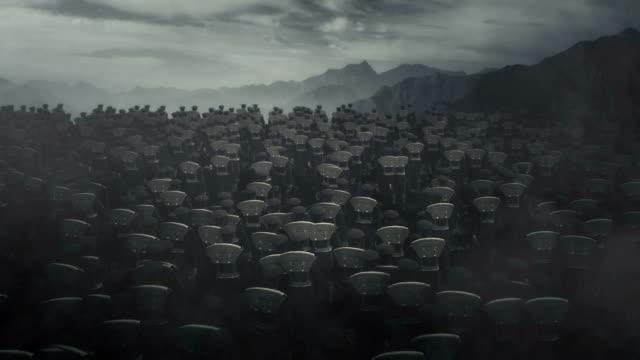 vidéos et rushes de troupes d'infanterie britannique de la première guerre mondiale marchant dans un champ de bataille - première guerre mondiale