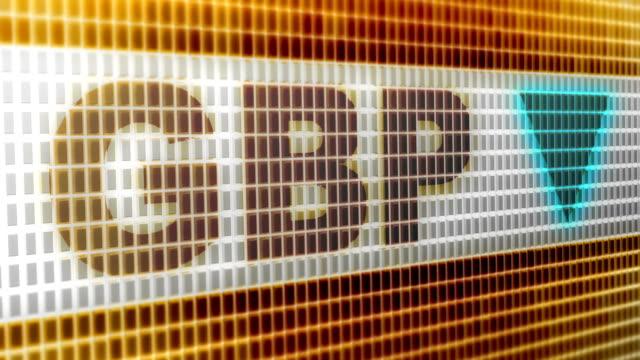 britische pfund. nach unten. 4k auflösung. looping. - pfand stock-videos und b-roll-filmmaterial