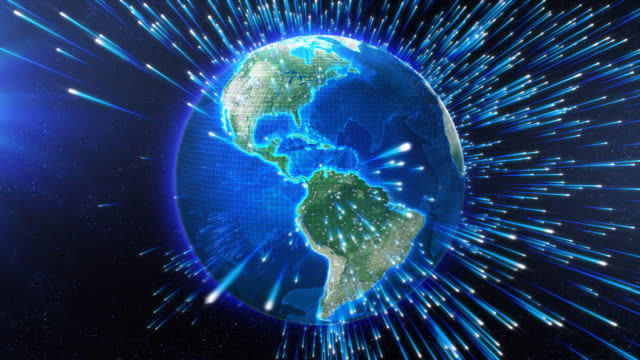Broadcast earth globe - travelling informations video