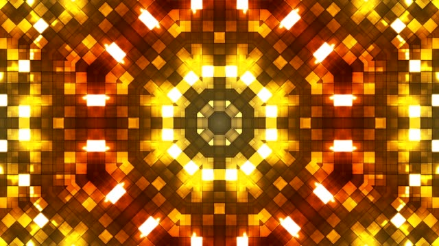Broadcast Firey Light Hi-Tech Squares Kaleidoscope, Multi Color, Abstract video