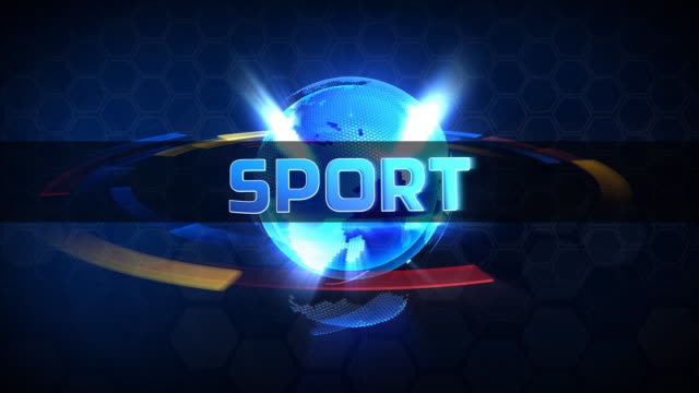 Broadcast globe SPORT animation video