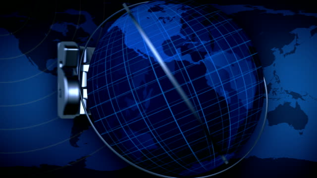 Broadcast news earth globe title animation - Blue video