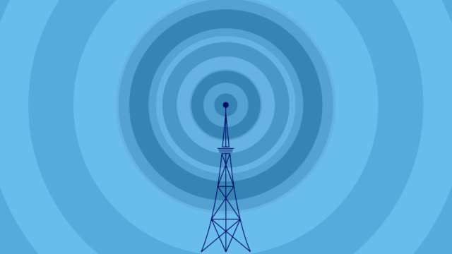 broadcast tower and  waves
