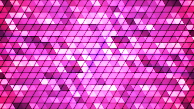 Broadcast Twinkling Cubic Hi-Tech Triangles 03 video