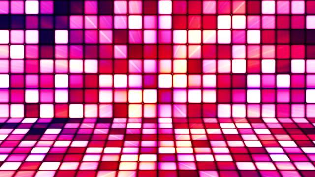 vídeos de stock e filmes b-roll de difusão twinkling hi-tech cubos fase 07 - mosaicos flores