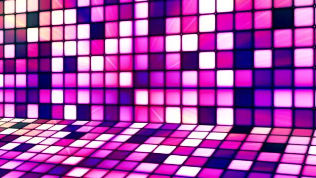 vídeos de stock e filmes b-roll de difusão twinkling hi-tech cubos fase 12 - mosaicos flores