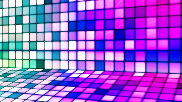 vídeos de stock e filmes b-roll de difusão twinkling hi-tech cubos fase 13 - mosaicos flores