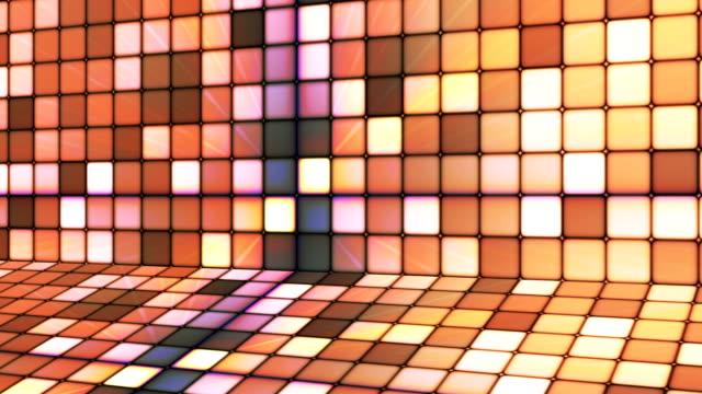 vídeos de stock e filmes b-roll de difusão twinkling hi-tech cubos fase 14 - mosaicos flores