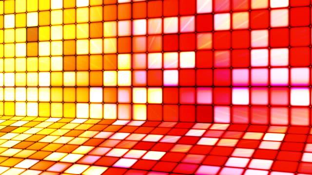 vídeos de stock e filmes b-roll de difusão twinkling hi-tech cubos etapa 16 - mosaicos flores