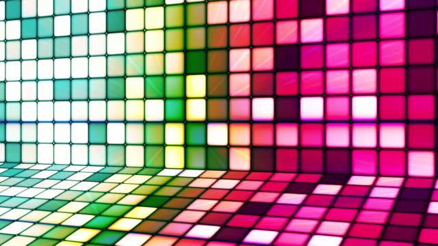 vídeos de stock e filmes b-roll de difusão twinkling hi-tech cubos fase 17 - mosaicos flores