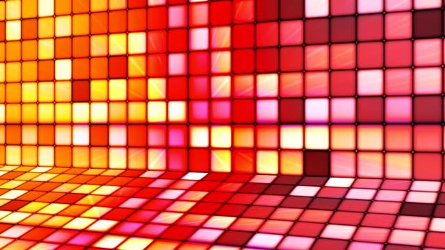vídeos de stock e filmes b-roll de difusão twinkling hi-tech cubos fase de 18 - mosaicos flores