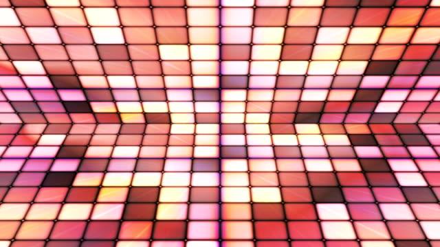 vídeos de stock e filmes b-roll de difusão twinkling hi-tech cubos fase de 25 - mosaicos flores