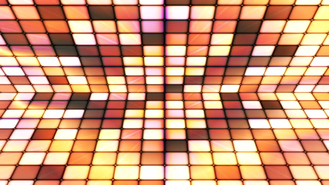 vídeos de stock e filmes b-roll de difusão twinkling hi-tech cubos fase 26 - mosaicos flores