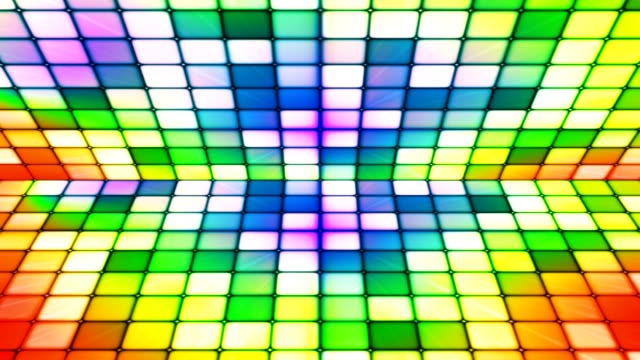 Broadcast Twinkling Hi-Tech Cubes Stage, Multi Color, Abstract video