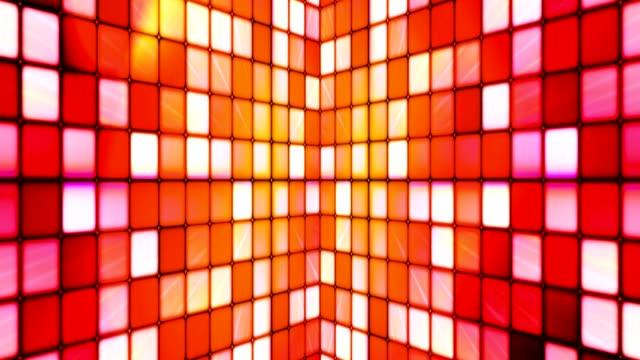 broadcast tindrande hi-tech kuber väggar, multi color, abstrakt - dansbana bildbanksvideor och videomaterial från bakom kulisserna