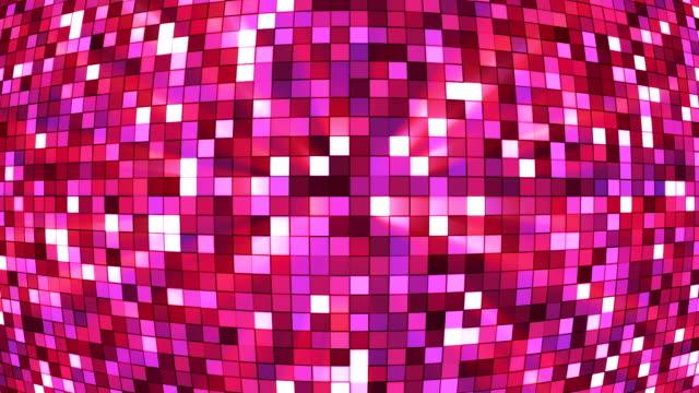vídeos de stock e filmes b-roll de difusão twinkling hi-tech quadrados mundo 05 - mosaicos flores