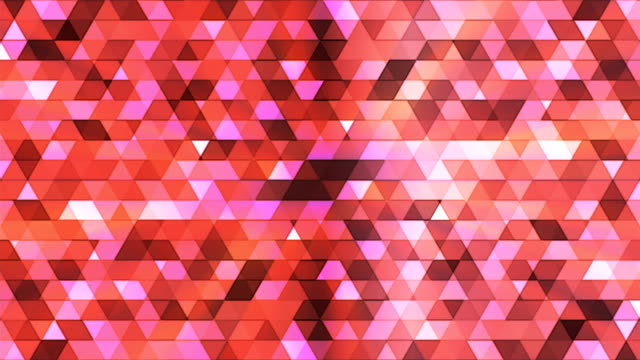 Broadcast Twinkling Polygon Hi-Tech Triangles, Multi Color, Abstract video