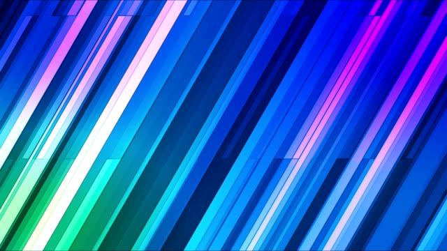 vídeos de stock e filmes b-roll de difusão twinkling oblíqua hi-tech barras 09 - reto descrição física