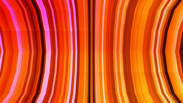 Broadcast Twinkling Vertical Bent Hi-Tech Strips, Orange, Abstract video