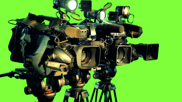 Broadcasting camcoders. Chromakey. video