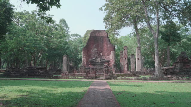 Broken church in Kamphaeng Phet Historical Park,Thailand