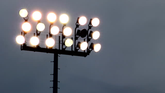 Broken Stadium Light Time-lapse video