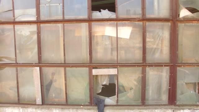 Broken Windows Of Abandoned Building video
