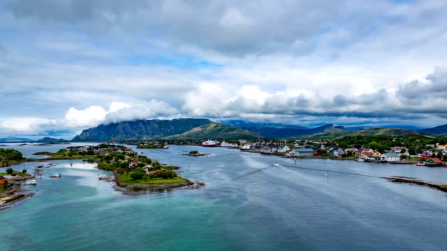 Bronnoysund Norway timelapse Bronnoysund, Beautiful Nature Norway timelapse south stock videos & royalty-free footage