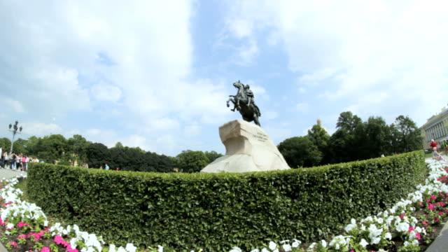 Bronze Horseman, The Peter The Great Statue, St. Petersburg, Russia video