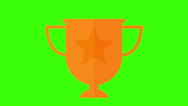 vídeos de stock, filmes e b-roll de bronze troféu premiado conceito 3º lugar dentro e fora da tela de animação verde - troféu