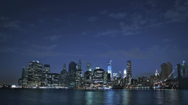 Brooklyn bridge and freedom tower, Manhattan, New York, USA video