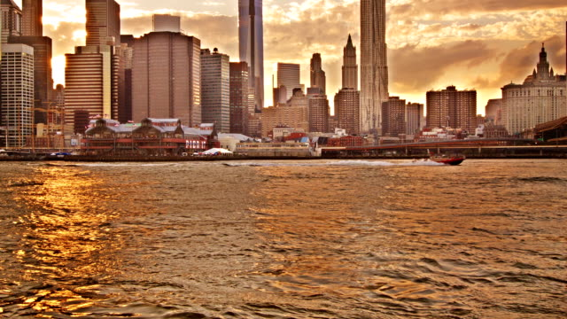 Brooklyn Bridge and Lower Manhattan City Skyline video