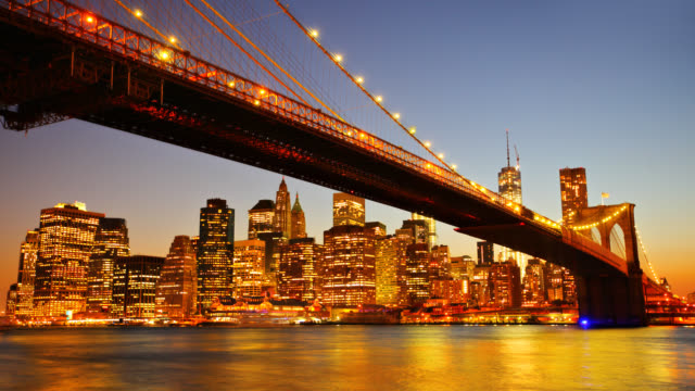 Brooklyn Bridge and Lower Manhattan video